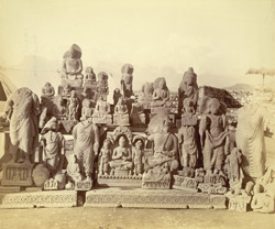 Group of statues of Buddhas and Bodhisattvas excavated at Lorian Tangai, Peshawar District 10031043